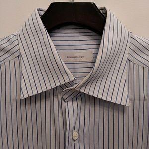 Zegna Men's Button Down Dress Shirt